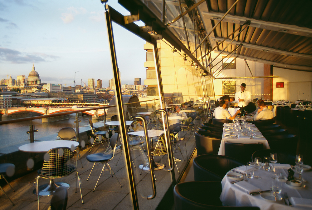 England, London, Thames River, Oxo Tower Restaurant
