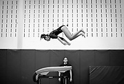 Freehold Borough's Arah Godbole [cq] competes in the vault during the gymnastics meet with Howell held at Freehold Borough High School on September 30.