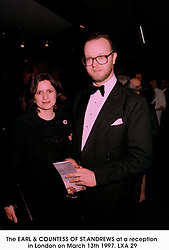 The EARL & COUNTESS OF ST.ANDREWS at a reception in London on March 13th 1997.LXA 29