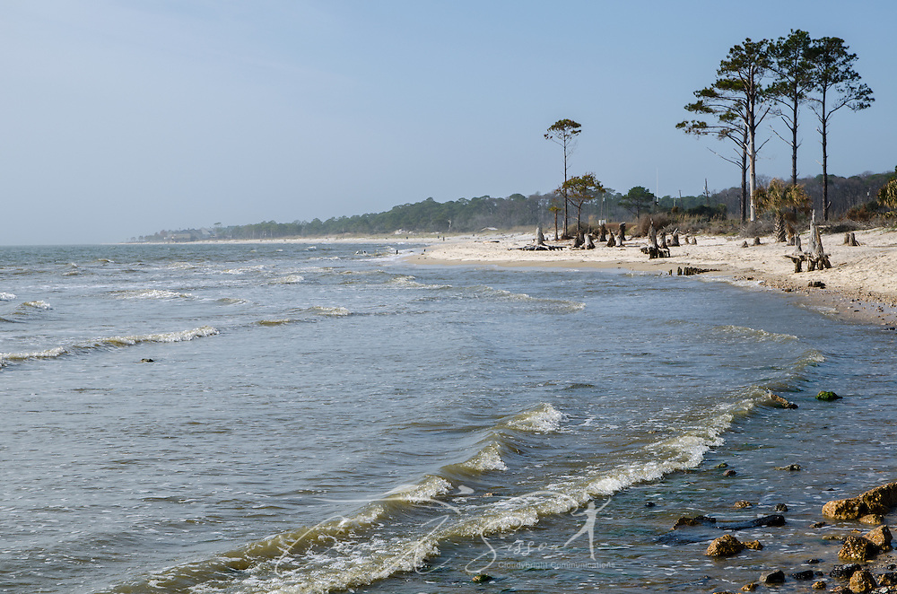 Waves crash on the east end of Dauphin Island, Alabama. (Photo by Carmen K. Sisson/Cloudybright)