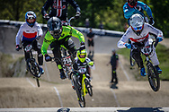 #214 (KENNEDY Izaac) AUS and #66 (PALMER James) CAN at Round 4 of the 2018 UCI BMX Superscross World Cup in Papendal, The Netherlands