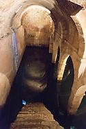 Portugal. Lisbon. Alfama district underground citern in San Vicente da Fora church area/ citerne sous terraine de San vicente da fora quartier.  le quartier de l'alfama . Lisbonne
