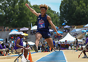 CJ Hill of the Cougars TC Louisiana competes in the Boys Long Jump Finals during the New Balance Outdoor Nationals, Sunday, June 16, 2019, in Greensboro, NC. (Brian Villanueva/Image of Sport)