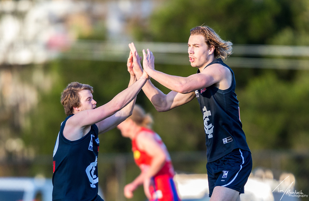 Saturday 8 July 2017<br /> <br /> 2017 Peter Jackson VFL Season<br /> Round 12<br /> <br /> Northern Blues vs Port Melbourne<br /> Preston City Oval<br /> <br /> #PJVFL #WeMarchNorth<br /> <br /> Photo Credit: Tim Murdoch/Tim Murdoch Photography