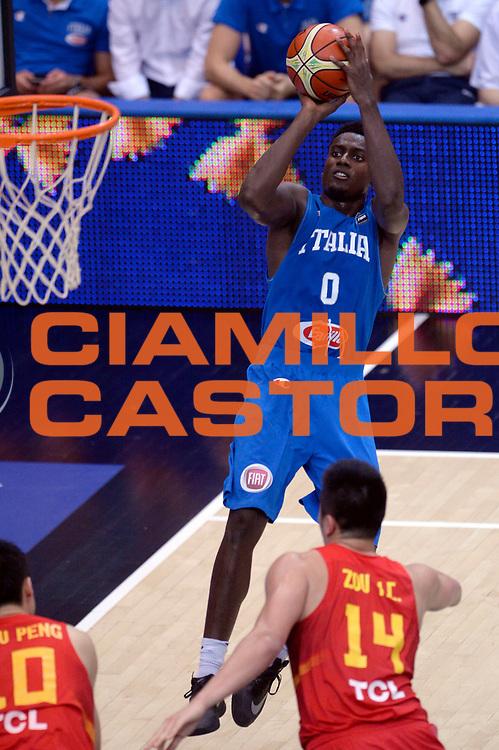 DESCRIZIONE : Trento Nazionale Italia Uomini Trentino Basket Cup Italia Cina Italy China<br /> GIOCATORE : Abass Awudu Abass<br /> CATEGORIA : tiro<br /> SQUADRA : Italia Italy<br /> EVENTO : Trentino Basket Cup<br /> GARA : Trentino Basket Cup Italia Cina Italy China<br /> DATA : 18/06/2016<br /> SPORT : Pallacanestro<br /> AUTORE : Agenzia Ciamillo-Castoria/Max.Ceretti<br /> Galleria : FIP Nazionali 2016<br /> Fotonotizia : Trento Nazionale Italia Uomini Trentino Basket Cup Italia Cina Italy China