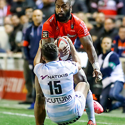 Semi Radradra of Toulon during the Top 14 match between Toulon and Racing 92 on November 19, 2017 in Toulon, France. (Photo by Guillaume Ruoppolo/Icon Sport)