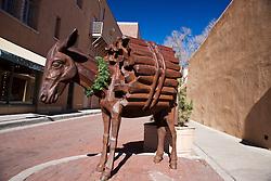 Burro statue, Burro Lane, Santa Fe, New Mexico, United States of America