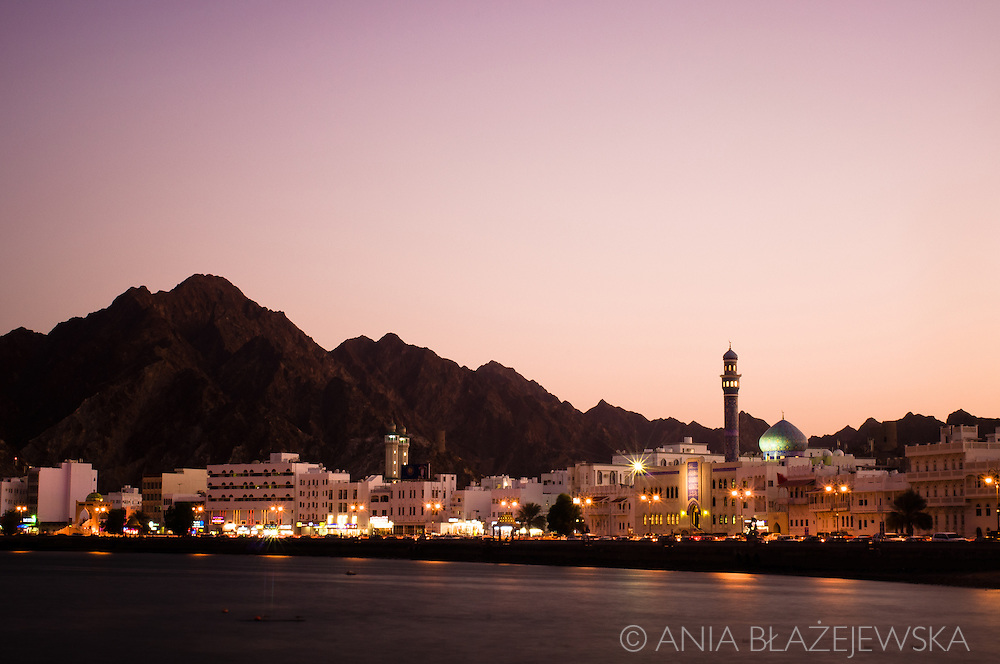 Oman, Muscat. Sunset over the Muttrah corniche can be beautiful.