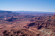 Daytime vista from Deadhorse Point State Park near Moab, Utah, USA.