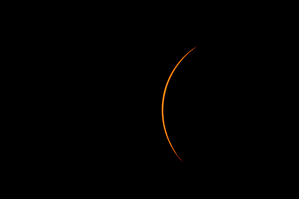 AUGUST 21, 2017 Solar eclipse from near Madisonville, TN. Photo By Randy Sartin and Donald Page.