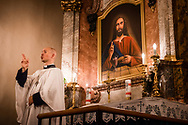 Photographs from worship at the Church of Saint Michael the Archangel during the 10th Corpus Christi Conference on Tuesday, July 24, 2018, in Prague, Czech Republic. LCMS Communications/Erik M. Lunsford