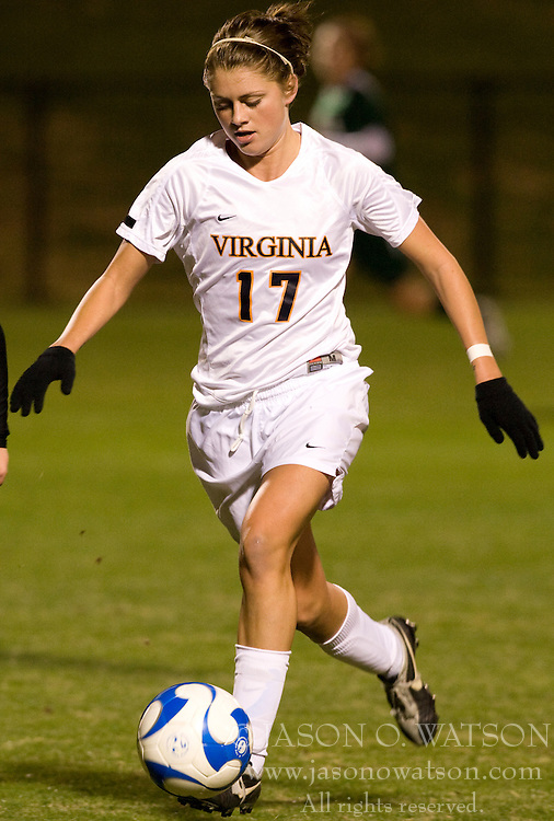 Virginia Cavaliers midfielder/forward Sinead Farrelly (17)..The Virginia Cavaliers defeated the Loyola (MD) Greyhounds 4-1 in the first round of the NCAA Women's Soccer tournament held at Klockner Stadium in Charlottesville, VA on November 16, 2007.