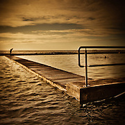 Before the plunge, Newcastle Ocean Baths, Australia.<br />