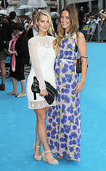 © Licensed to London News Pictures. 14/08/2013, UK. Olivia Newman Young; Francesca Newman Young, We're The Millers UK film premiere, Odeon West End cinema Leicester Square, London UK, 14 August 2013. Photo credit : Richard Goldschmidt/Piqtured/LNP