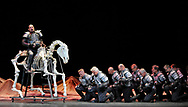 STRICTLY NO SALES, SYNDICATION OR ARCHIVE<br /> <br /> EDINBURGH INTERNATIONAL FESTIVAL 2017<br /> <br /> MACBETH<br /> <br /> Giuseppe Verdi / Teatro Regio Torino / Gianandrea Noseda / Emma Dante<br /> <br /> 18 - 20 August 2017<br /> Festival Theatre<br /> A major new production of Verdi&rsquo;s dark operatic thriller, given by the International Festival&rsquo;s 2017 resident company Teatro Regio of Turin, conducted by Gianandrea Noseda and directed by Emma Dante. The opera was the very first to be performed at the inaugural International Festival in 1947.<br /> <br /> A coven of witches prophesies that Macbeth will be king. Blinded by ambition and driven on by his power-hungry wife, he commits bloody murder after bloody murder in his ruthless quest to grasp and keep the throne.<br /> <br /> But even as monarch, Macbeth finds himself trapped in a swamp of intrigue, murder and betrayal as he attempts to protect his fragile grip on power.<br /> <br /> Aflame with madness, witchcraft and tyranny, Verdi&rsquo;s immensely powerful tenth opera is at once an exploration of the nature of evil, and a gripping account of the rise and downfall of a dictator. With Macbeth, Verdi did nothing less than change the course of opera history, abandoning the lyrical style of Rossini and Donizetti in favour of fiery drama, brooding emotion and ghostly colours.<br /> <br /> This new landmark production is directed by the Italian actor, writer and director Emma Dante, acclaimed for previous productions in opera houses including La Scala, Milan. Teatro Regio Torino Music Director Gianandrea Noseda conducts Verdi&rsquo;s ferociously original score.<br /> <br /> With its searing emotional intensity and its diabolical themes, Verdi&rsquo;s Macbeth guarantees you one of the darkest nights at the opera.<br /> <br />  Neil Hanna Photography<br /> www.neilhannaphotography.co.uk<br /> 07702 246823
