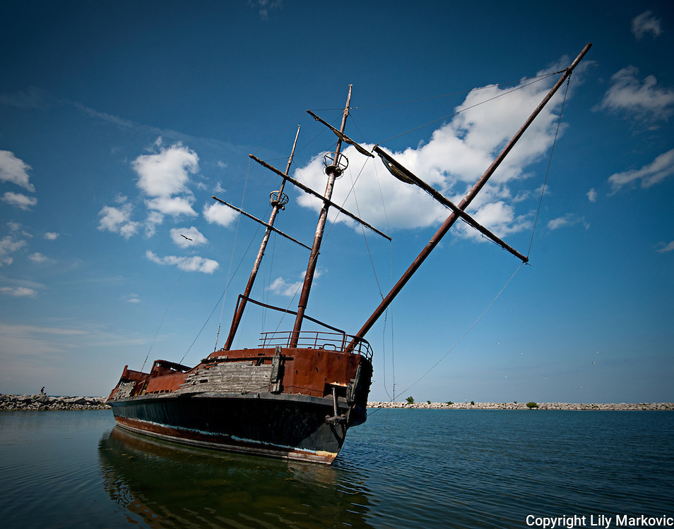 Abandoned Old Tall Ship
