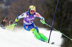 Mitja Valencic of Slovenia competes during 1st Run of Men's Slalom - Pokal Vitranc 2012 of FIS Alpine Ski World Cup 2011/2012, on March 11, 2012 in Vitranc, Kranjska Gora, Slovenia.  (Photo By Vid Ponikvar / Sportida.com)