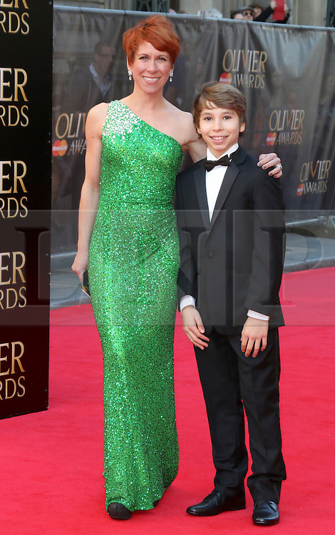 © Licensed to London News Pictures. 13/04/2014, UK. Anna-Jane Casey; Bradley Perret, The Laurence Olivier Awards, Royal Opera House, London UK, 13 April 2014. Photo credit : Richard Goldschmidt/Piqtured/LNP