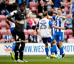 Wigan Athletic's Nick Powell celebrates after scoring his sides second goal  - Mandatory by-line: Matt McNulty/JMP - 13/08/2017 - FOOTBALL - DW Stadium - Wigan, England - Wigan Athletic v Bury - Sky Bet League One