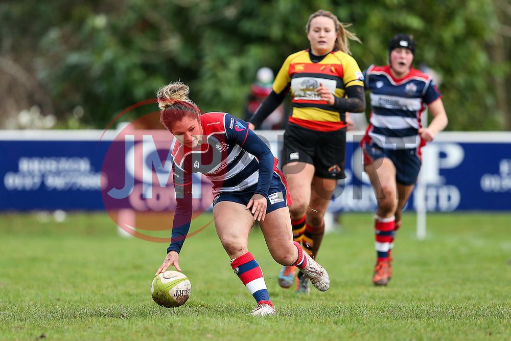 Amy Wilson Hardy of Bristol Ladies scores a try - Rogan Thomson/JMP - 15/01/2017 - RUGBY UNION - Cleve RFC - Bristol, England - Bristol Ladies Rugby v Richmond WRFC - RFU Women's Premiership.