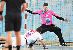 Zoran Nikolic of Serbia and Rok Zaponsek of Slovenia during friendly handball match between Slovenia and Srbija, on October 27th, 2019 in Športna dvorana Lukna, Maribor, Slovenia. Photo by Milos Vujinovic / Sportida