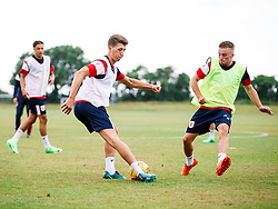 Aaron Parsons and Joe Morrell in action as Bristol City Under 23s return for a second day of training ahead of their 2017/18 Season - Rogan/JMP - 01/07/2017 - Failand Training Ground - Bristol, England.