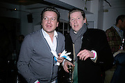 Stefan Kalmar and Michael Bracewell, The Secret public/The Last Days of the British Underground. 1978-1988. I.C.A. London.  21 March 2007.  -DO NOT ARCHIVE-© Copyright Photograph by Dafydd Jones. 248 Clapham Rd. London SW9 0PZ. Tel 0207 820 0771. www.dafjones.com.