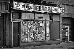 An abandoned deli in Jersey City, NJ