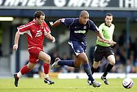 Photo: Olly Greenwood.<br />Southend United v Carlisle United. Coca Cola League 1. 27/10/2007. Southend's Leon Clarke and Carlisle's David Raven