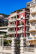 Exterior detail of Hermitage Hotel, Monaco