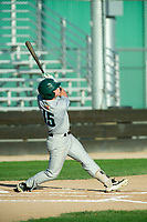 KELOWNA, BC - JULY 24:  Aidan Welch #15 of the Yakima Valley Pippins swings the bat against the the Kelowna Falcons at Elks Stadium on July 24, 2019 in Kelowna, Canada. (Photo by Marissa Baecker/Shoot the Breeze)