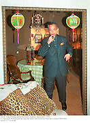 David Tang photographed at home. London. September 1999.<br />
