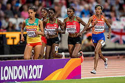 13-08-2017 IAAF World Championships Athletics day 10, London<br /> Sifan Hassan NED heeft haar medaille. Brons op de 5000 meter.