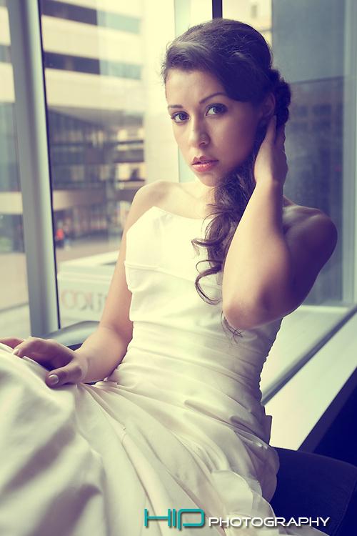 Wedding dress editorial shoot