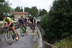 Mieke Kröger (GER) of CANYON//SRAM Racing  rides mid-pack in the penultimate short lap of the Crescent Vargarda - a 152 km road race, starting and finishing in Vargarda on August 13, 2017, in Vastra Gotaland, Sweden. (Photo by Balint Hamvas/Velofocus.com)