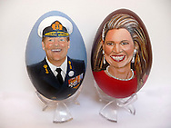 Wassenaar, 15-03-2016<br /> <br /> Hand painted eggs by artist Tiety Entjes-Weij<br /> <br /> Copyright: Royalportraits Europe/Bernard Ruebsamen