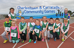 Charlestown and Carracastle Community games group at the Mayo finals in Claremorris.<br /> Pic Conor McKeown