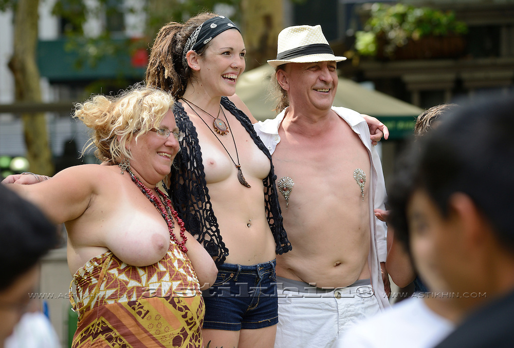 "International ""Go-Topless Day""."