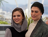 Actress Benhaz Jafari and Marzieh Rezaei at the Three Faces (3 Visages / Se Rokh) film photo call at the 71st Cannes Film Festival, Sunday 13th May 2018, Cannes, France. Photo credit: Doreen Kennedy