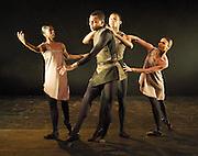 Orpheus<br /> choreography by Will Tuckett<br /> <br /> Ballet Black <br /> Artistic director Cassa Pancho<br /> <br /> Damien Johnson (as Orpheus)<br /> Centre<br /> <br /> <br /> <br /> Photograph by Elliott Franks