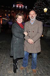 IMELDA STAUNTON and KEITH ALLEN at the opening of the 2012 Somerset House Ice Rink on 15th November 2012.