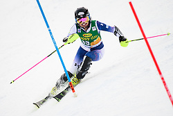 January 7, 2018 - Kranjska Gora, Gorenjska, Slovenia - Emiko Kiyosawa of Japan competes on course during the Slalom race at the 54th Golden Fox FIS World Cup in Kranjska Gora, Slovenia on January 7, 2018. (Credit Image: © Rok Rakun/Pacific Press via ZUMA Wire)