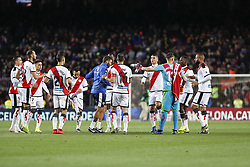 March 9, 2019 - Barcelona, Catalonia, Spain - Rayo Vallecano players during the match FC Barcelona v Rayo Vallecano, for the round 27 of La Liga played at Camp Nou  on 9th March 2019 in Barcelona, Spain. (Credit Image: © Mikel Trigueros/NurPhoto via ZUMA Press)