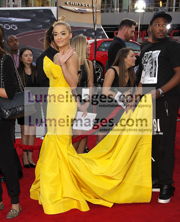 Rita Ora at the 2014 American Music Awards held at the Nokia Theatre L.A. Live in Los Angeles on November 23, 2014 in Los Angeles, California. Credit: Lumeimages.com