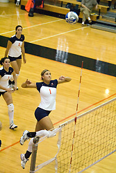 Virginia Cavaliers M Shannon Davis (1)..The Virginia Cavaliers Volleyball team faced the Florida State Seminoles at Memorial Gymnasium in Charlottesville, VA on September 20, 2007.