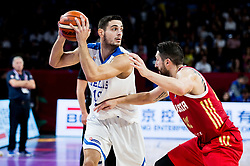 Dimitrios Agravanis of Greece vs Nikita Kurbanov of Russia during basketball match between National Teams of Greece and Russia at Day 14 in Round of 16 of the FIBA EuroBasket 2017 at Sinan Erdem Dome in Istanbul, Turkey on September 13, 2017. Photo by Vid Ponikvar / Sportida