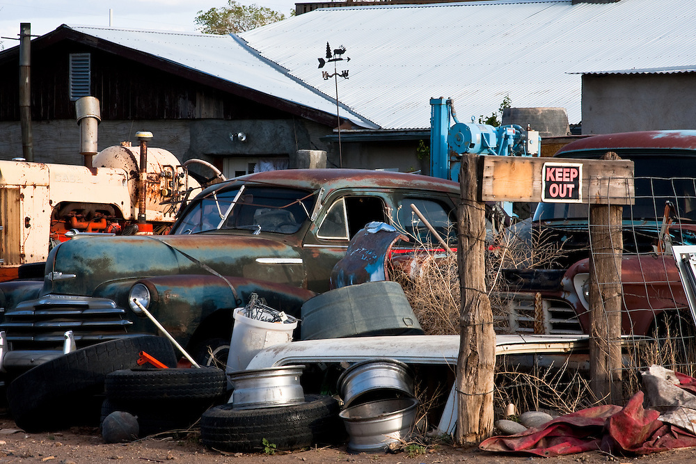 Junk yard in San Fidel, New Mexico along historic Route 66