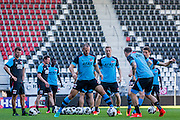 ALKMAAR - 24-08-2016, training AZ, AFAS Stadion, AZ speler Ron Vlaar, AZ speler Rens van Eijden