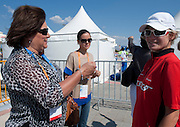 (L) Anna Komorowska - First Lady of Poland & (R) athlete Agnieszka Sobczyk of Poland  during 2011 Special Olympics World Summer Games Athens on June 27, 2011..The idea of Special Olympics is that, with appropriate motivation and guidance, each person with intellectual disabilities can train, enjoy and benefit from participation in individual and team competitions...Greece, Athens, June 27, 2011...Picture also available in RAW (NEF) or TIFF format on special request...For editorial use only. Any commercial or promotional use requires permission...Mandatory credit: Photo by © Adam Nurkiewicz / Mediasport