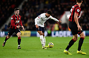 Alex Oxlade-Chamberlain (15) of Liverpool on the attack during the Premier League match between Bournemouth and Liverpool at the Vitality Stadium, Bournemouth, England on 7 December 2019.